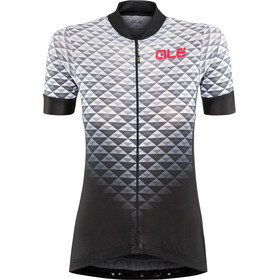 Alé Cycling Solid Hexa Jersey korte mouwen Dames, black-white